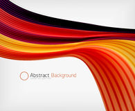 Rainbow color wave abstraction design template Royalty Free Stock Image