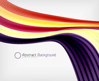 Rainbow color wave abstraction design template Stock Photo