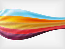 Rainbow color wave abstraction design template Stock Photos