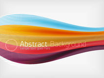 Rainbow color wave abstraction design template Royalty Free Stock Photography