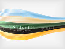 Rainbow color wave abstraction design template Stock Images