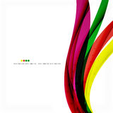Rainbow color wave stripes Stock Images