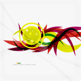Rainbow color wave stripes Royalty Free Stock Images