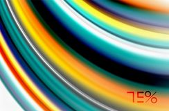 Rainbow color waves, vector blurred abstract background. Vector artistic illustration for presentation, app wallpaper, banner or poster Royalty Free Stock Image