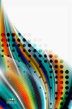 Rainbow color waves, vector blurred abstract background. Vector artistic illustration for presentation, app wallpaper, banner or poster Stock Photos