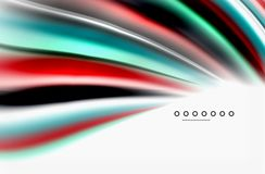 Rainbow color waves, vector blurred abstract background. Vector artistic illustration for presentation, app wallpaper, banner or poster Stock Photography