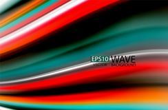 Rainbow color waves, vector blurred abstract background. Vector artistic illustration for presentation, app wallpaper, banner or poster Stock Photo