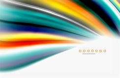 Rainbow color waves, vector blurred abstract background. Vector artistic illustration for presentation, app wallpaper, banner or poster stock illustration
