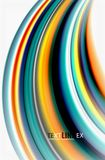 Rainbow color waves, vector blurred abstract background. Vector artistic illustration for presentation, app wallpaper, banner or poster vector illustration