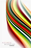 Rainbow color waves, vector blurred abstract background. Vector artistic illustration for presentation, app wallpaper, banner or poster Stock Images