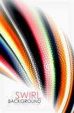 Rainbow color waves, vector blurred abstract background. Vector artistic illustration for presentation, app wallpaper, banner or poster Royalty Free Stock Images