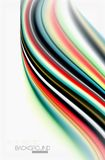 Rainbow color waves, vector blurred abstract background. Vector artistic illustration for presentation, app wallpaper, banner or poster Stock Image