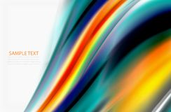 Rainbow color waves, vector blurred abstract background. Vector artistic illustration for presentation, app wallpaper, banner or poster Royalty Free Stock Photos