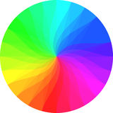 Rainbow color wheel Royalty Free Stock Photo