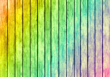 Rainbow color wood panels design texture Royalty Free Stock Images