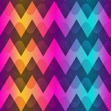 Rainbow color zigzag seamless pattern. Eps 10 vector file Stock Photo