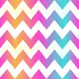 Rainbow color zigzag seamless pattern. Eps 10 vector file Royalty Free Stock Photos