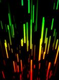 Rainbow colored abstract lines Stock Photography