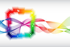 Rainbow colored abstract template Stock Photography