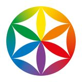 Rainbow colored baby Flower of Life Stock Photography