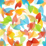 Rainbow colored background with leaves Stock Photos