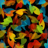 Rainbow colored background with leaves Stock Images