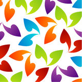Rainbow colored background with leaves Royalty Free Stock Photos