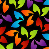 Rainbow colored background with leaves Royalty Free Stock Images