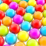 Rainbow colored background made of colorful spheres Stock Images