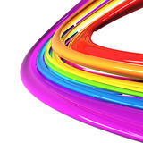 Rainbow colored cables Royalty Free Stock Photo