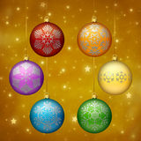 Rainbow colored Christmas ornaments Royalty Free Stock Photo