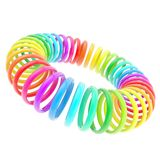 Rainbow colored circle torus composition isolated Stock Image
