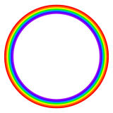 Rainbow colored circle on white background Stock Photos