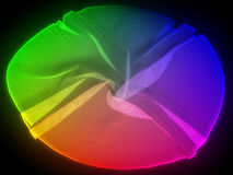 Rainbow colored cloth Royalty Free Stock Image