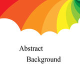 Rainbow Colored  Concave Diminished Stripes. Template for Labels, Fliers, Banners, Badges, Posters, Stickers Royalty Free Stock Images