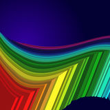 Rainbow colored 3d barcode background. Vector illustration Royalty Free Stock Images