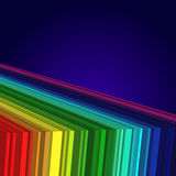 Rainbow colored 3d barcode background. Stock Photos