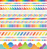 Rainbow‐colored decorations. Set of rainbow‐colored decorations Stock Image