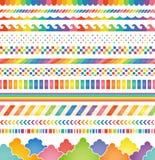 Rainbow‐colored decorations. Stock Image
