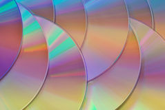 Rainbow colored disks texture background Royalty Free Stock Photography