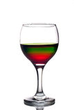 Rainbow colored drink Royalty Free Stock Photography