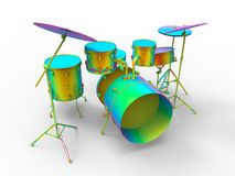 Rainbow colored drums Royalty Free Stock Images