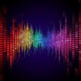 Rainbow colored equalizer effect Royalty Free Stock Images