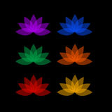 Rainbow colored floral design element or logos Stock Image