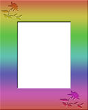 Rainbow Colored Floral Frame Border Royalty Free Stock Images
