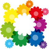 Rainbow Colored Flowers Stock Photos