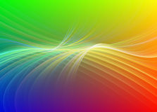 Rainbow colored fractal. Rainbow cloured fractal with light swirls Royalty Free Stock Photo