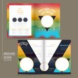 Rainbow colored half-fold brochure template design Royalty Free Stock Photography