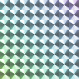 Rainbow colored hologram sticker Royalty Free Stock Images