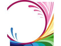Rainbow colored illustration Stock Photo